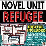 Novel Study Unit: REFUGEE by Alan Gratz - Print and Digital Distance Learning -Standards-Aligned Literature Guide