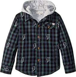 Glen Flannel Hooded Jacket (Toddler/Little Kids/Big Kids)