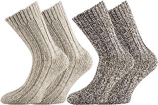 4a699745a2a00 Wowerat Lot de 4 Paires de Chaussettes norvégiennes Ultra Douces lavables
