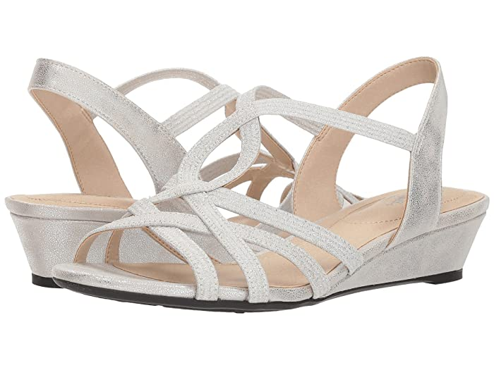 Vintage Sandals | Wedges, Espadrilles – 30s, 40s, 50s, 60s, 70s LifeStride Yaya Soft Silver Womens  Shoes $59.94 AT vintagedancer.com