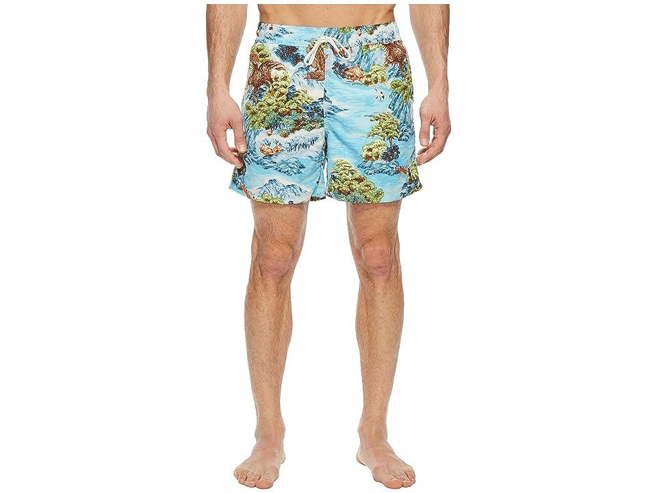 Polo Ralph Lauren Polyester Traveler Shorts (Landscape Hawaiian) Men