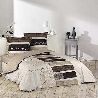 comprar comparacion Douceur D'Intérieur So Natural - Juego con funda de edredón y 2 fundas de almohada, algodon, estampado, 240 X 220 cm