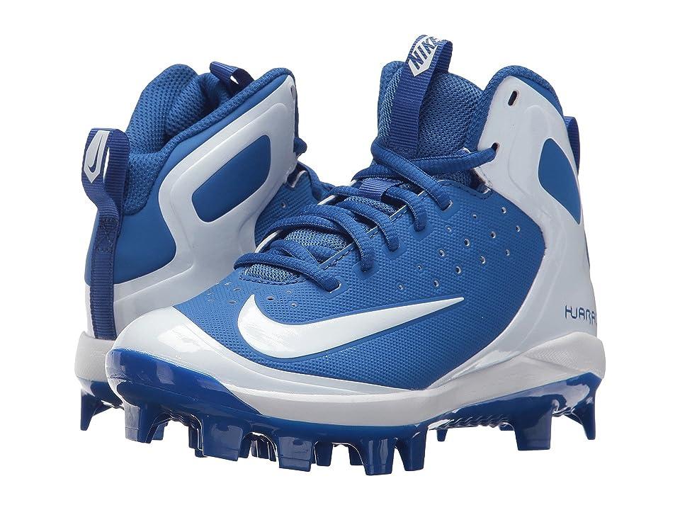 Nike Kids Alpha Huarache Pro Mid MCS BG (Toddler/Little Kid/Big Kid) (Game Royal/White/White/Photo Blue) Kids Shoes