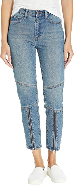 Moto Girlfriend Jeans w/ Front Zips