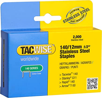 Tacwise 0308 Grapas de corona estrecha de tipo 90//25 mm Set de 5000 Piezas