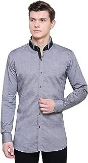Jailbird Party All Night Grey & Black Luxury Occasion Wear Full Sleeve Shirt for Men