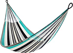 Yellow Leaf Hammocks SJ Zanzibar Family-Size Hammock, Fits 1-2+ People (550 lbs), Multicolor - Turquoise