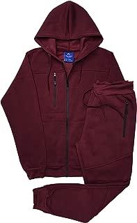 Men's Warm Winter Tech Fleece Sweat Jacket Sweatpants Jogger Outfit