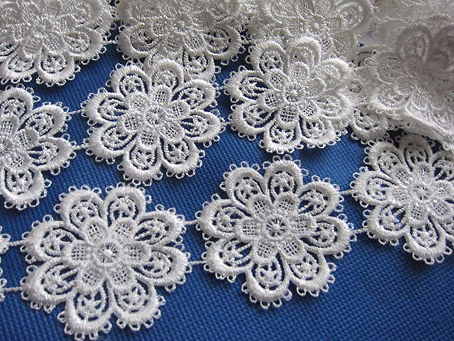 YYCRAFT Pack Of 5y Flower Lace Edge 2