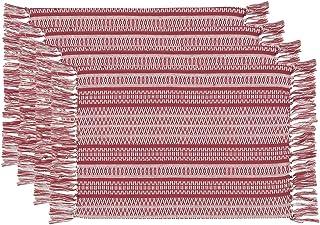 Now Designs 1748100aa Placemats, Set of Four, Alpine Stripe, 4 Piece