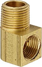 Eaton Weatherhead 402X6X6 Brass CA360 Inverted Flare Brass Fitting, 90 Degree Elbow, 3/8