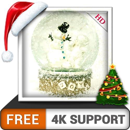 globo de neve HD grátis decorar sua tela com o belo homem da neve do natal no inverno na sua TV HDR 8K 4K e dispositivos de fogo como papel de parede e tema de decoração
