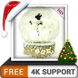 Snow Globe HD gratis decora tu pantalla con el hermoso muñeco de nieve de Navidad en invierno en tu televisor HDR 8K 4K y dispositivos de fuego como fondo de pantalla y tema para decoración y