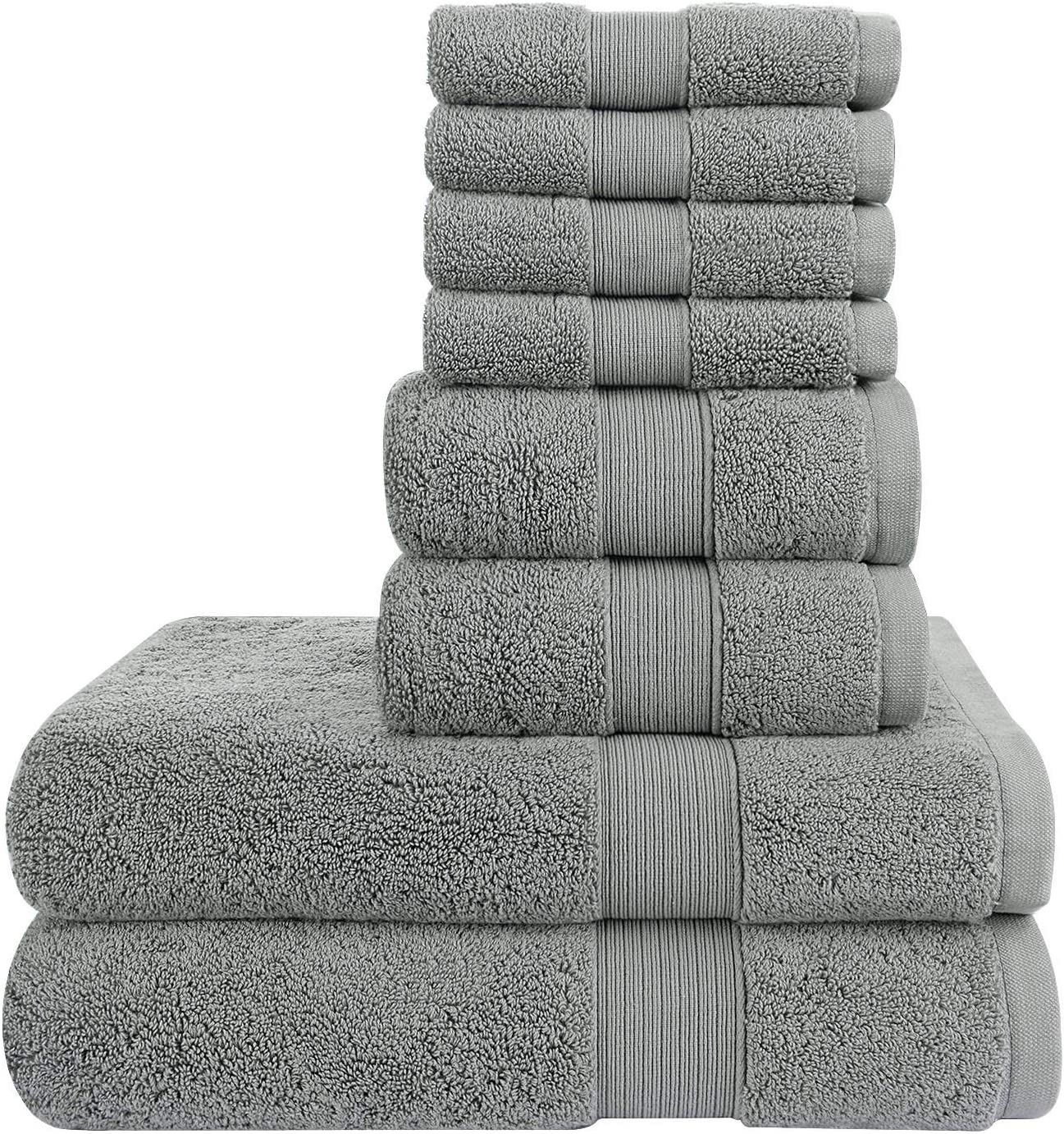 100% Cotton Towels Set 8 Piece Hand Bath Tow 4 years warranty - Excellence 2