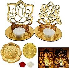 DECORATIVE BUCKETS Lakshmi Ganesha Lotus Idol |Shadow Tea Light Holder| DEEPAWALI/Diwali PUJA |Pooja thali |Diwali Decorations|Diwali Gifts| Diwali diyas