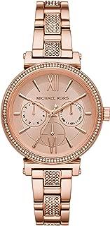 Michael Kors Women's Quartz Wrist Watch analog Display and Stainless Steel Strap, MK4354