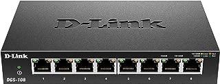 D-Link 8 Port Gigabit Unmanaged Metal Desktop Switch (DGS-108)