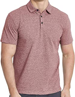 Men's Cotton Polo Shirts, Short Sleeve Athletic Golf Polo Shirts for Men