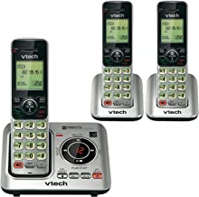 VTech CS6629-3 DECT 6.0 Expandable Cordless Phone with Answering System and Caller ID/Call Waiting, Silver with 3 Handsets...