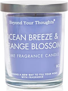 Beyond Your Thoughts Scented Candle Aromatherapy Wax Mixed Popular Long Lasting Ocean Breeze&Orangeblossom Fragrances 8oz