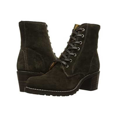 Frye Sabrina 6G Lace Up (Fatigue Oiled Suede) Women