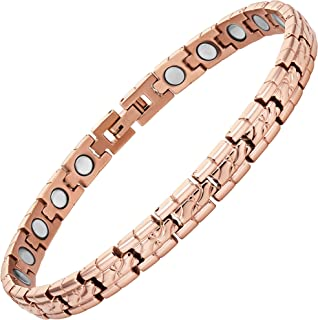 Ladies Rose Gold Magnetic Therapy Anklet Ankle Bracelet by Willis Judd