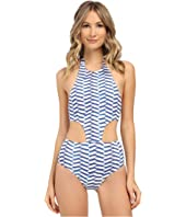 Shoshanna - Pleated Waves Sporty Monokini