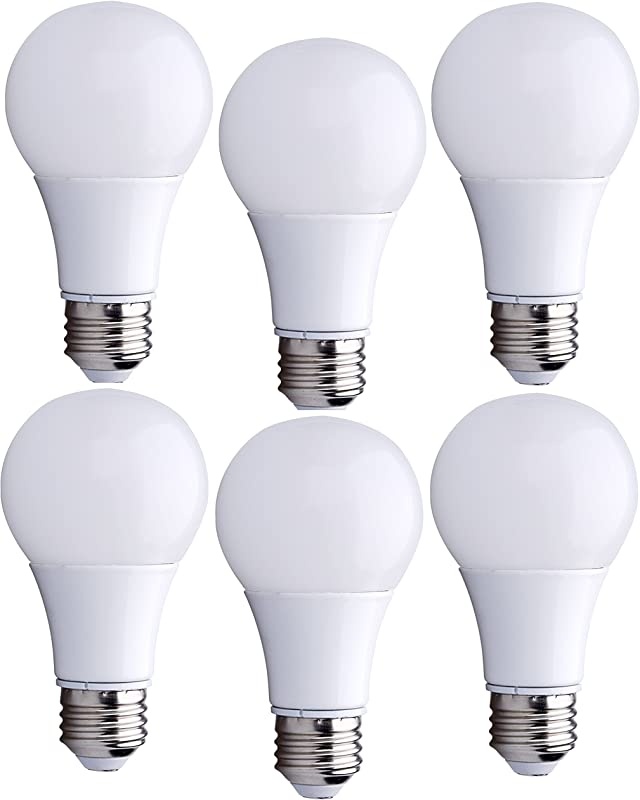 Bioluz LED 40 Watt LED Light Bulbs Uses 6 Watts ECO Series Warm White 2700K LED Light Bulbs 6 Pack