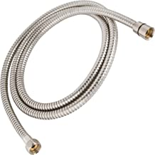 Universal 60 Inch Flexible Shower Hose - Extra Long, Stainless Steel, Double-Buckle For Handheld Showerhead - Aqua Elegante - Brushed Nickel