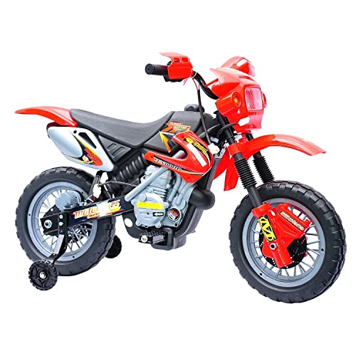 812d5b48407 Qaba Aosom 6V Electric Kids Ride On Motocross Outdoor Recreation Dirt Bike  - Red