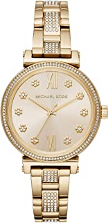 Michael Kors Women's Quartz Watch analog Display and Stainless Steel Strap, MK3881