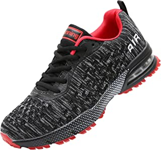 Men Air Cushion Running Tennis Shoes Trail Lightweight Breathable Athletic Fitness Fashion Walking Sneakers Us7-11.5