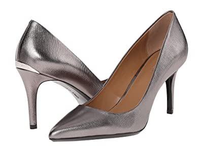 Calvin Klein Gayle (Anthracite Metallic Grain Leather) High Heels