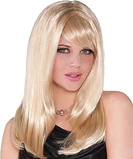 amscan Stunning Starlet Blonde Wig, Gold, One Size
