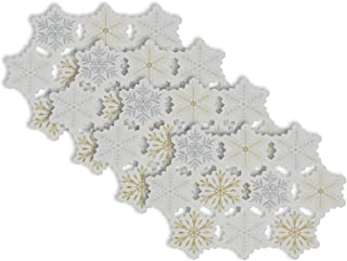 DII 100% Polyester, Christmas Holiday Embroidered Placemats, 13x19