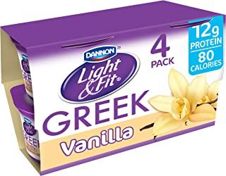 Dannon, Light & Fit Yogurt, Greek, Vanilla, 5.3 oz, 4 pack