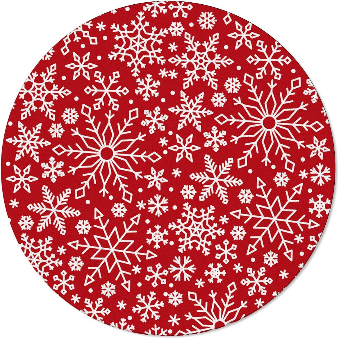 MAIANNE トラスト Non-Slip Round Area Rugs Soft with 定番 Backing Merry Rubber