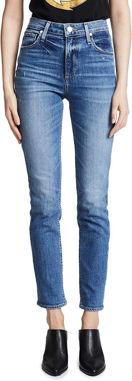 PAIGE Women's Sarah Transcend High Rise Slim Fit Straight Leg Jean