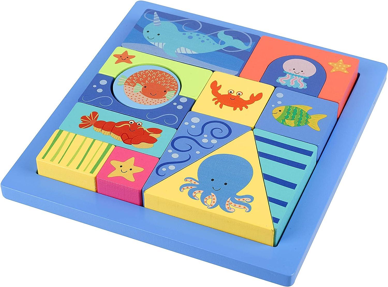 Orange Tree Toys Sea Life Block Puzzle