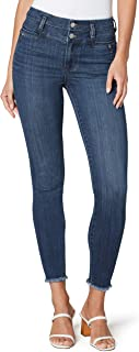 Liverpool Women's High Rise Double Waistband Ankle Skinny Fray Hem