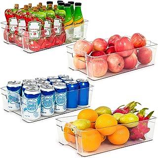 HapiLeap Kühlschrank-Organizer-Kästen, Aufbewahrungsbehälter für Gefrierschrank, Schrank, Arbeitsplatte, Küche, Speisekamm...