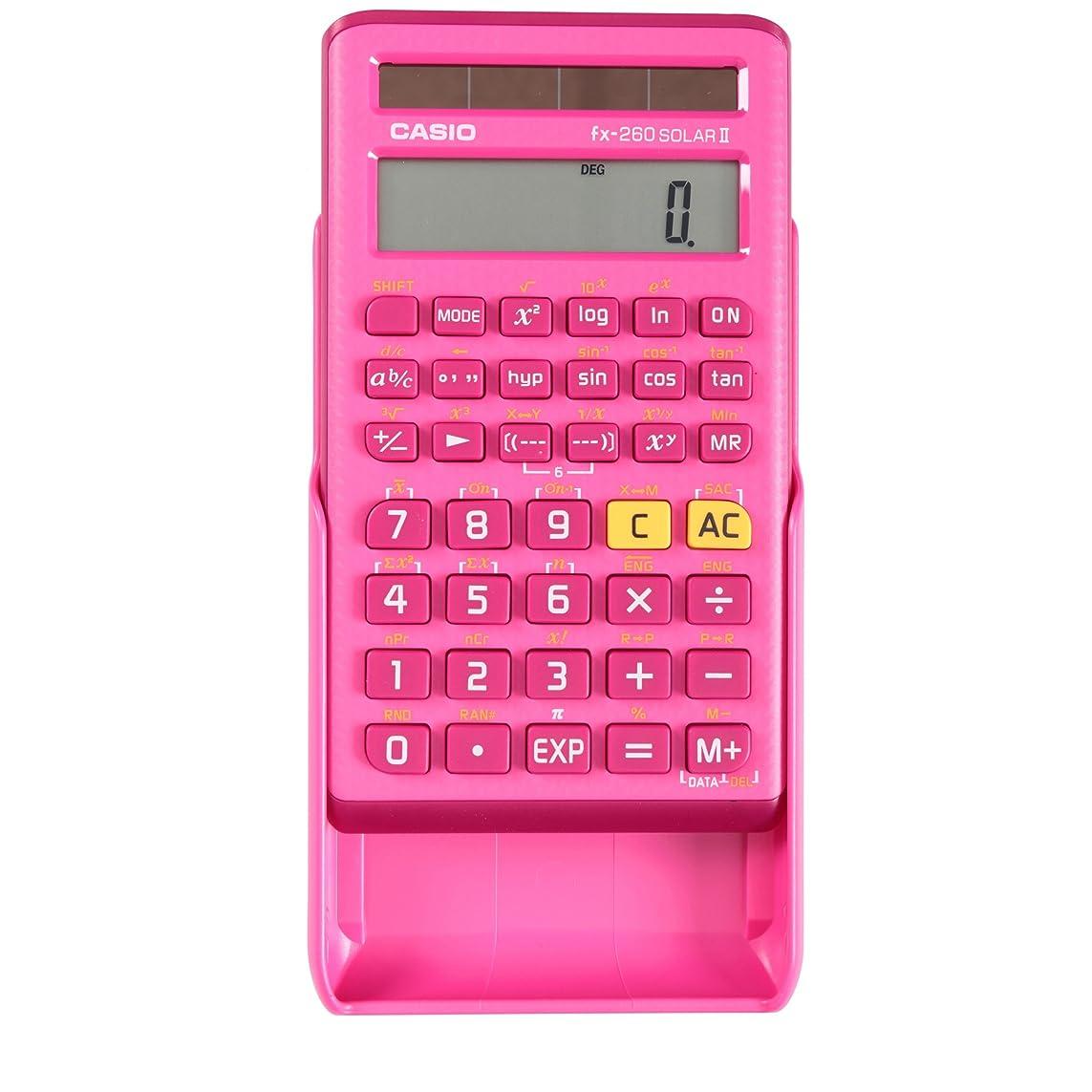 ハリケーンながらアライメントCASIO カシオ 関数電卓 fx-260 SOLAR II(ピンク) [並行輸入品]