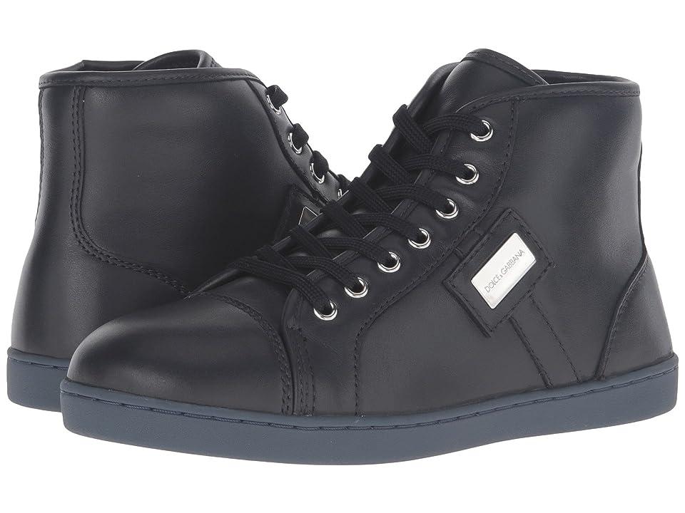 Dolce & Gabbana Kids City Leather High Top Sneaker (Little Kid/Big Kid) (Military Green) Boy