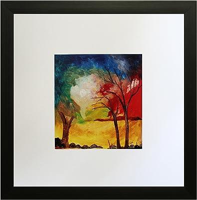 SAF Textured Print with UV Framed Reprint Painting (SANFO462, 25 cm x 3 cm x 25 cm) SANFO462