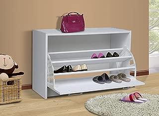 4D Concepts Deluxe Single Shoe Cabinet, White