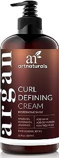 ArtNaturals Curl Defining Cream - Curls Moisturizer & Enhancer w/Almond, Jojoba & Argan Oil & Natural Frizz Control - for ...