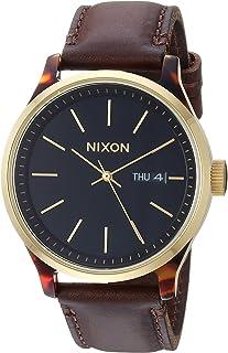 Sentry Luxe A1263-100 m Reloj analógico de moda para hombre (esfera de reloj de 42 mm, 21 mm-19 mm correa de cuero)