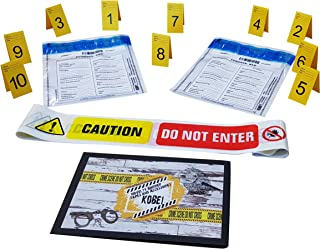 Kobe1 Caution Do Not Enter Barrier Tape (20 ft ),Tamper Proof Evidence Collection Bags (x2),Photo Evidence Markers,Frames,...