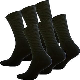 6 pares Calcetines de deporte con de rizo suela 39-42 Negro