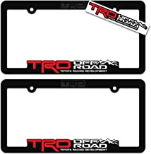 EUROPEAN Style License plate Tag Inspired Art Toyota  sml TRD Red and Dark Gray